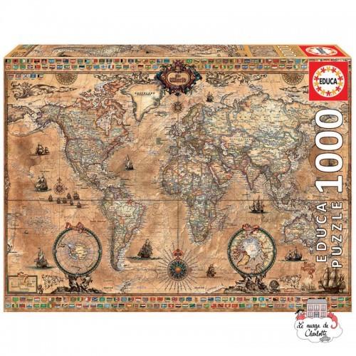 Antique World Map - EDU-15159 - Educa Borras - 1000 pieces - Le Nuage de Charlotte