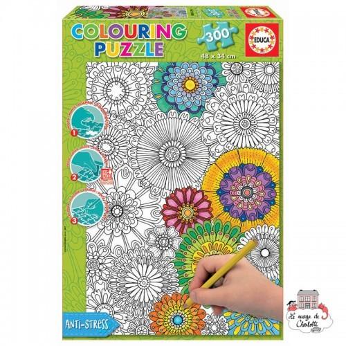 Colouring Puzzle - Big Beautiful Blossoms - EDU-17090 - Educa Borras - 300 pieces - Le Nuage de Charlotte