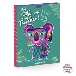 Fold My Treecher - Candy Koala - KRO-K-481 - Krooom - Maquettes en carton - Le Nuage de Charlotte