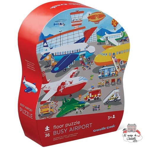 floor puzzle - Busy Airport - CCR-4076-4 - Crocodile Creek - For littles - Le Nuage de Charlotte