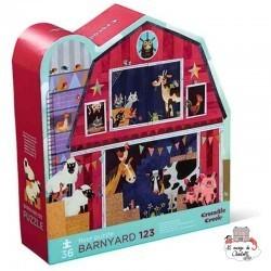 floor puzzle - Barnyard 123 - CCR-4072-0 - Crocodile Creek - For littles - Le Nuage de Charlotte