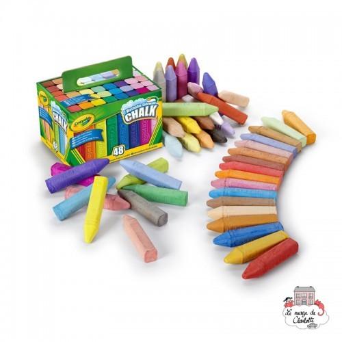 48 Washable Sidewalk Chalk - CRA-51-2048 - Crayola - Supplies - Le Nuage de Charlotte