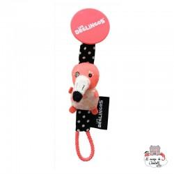 Pacifier clip Flamingos the flamingo - DEG-36625 - Les Déglingos - Soother Chain - Le Nuage de Charlotte