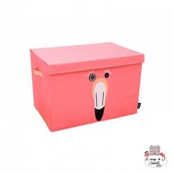 Flamingos the flamingo storage box - DEG-25925 - Les Déglingos - Children's furniture - Le Nuage de Charlotte