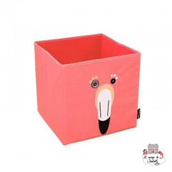 Flamingos the flamingo storage box - DEG-25525 - Les Déglingos - Children's furniture - Le Nuage de Charlotte