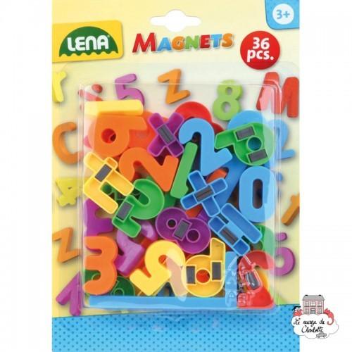Magnets - Ciphers (36 pcs) - LEN-65747 - Lena - Numbers and Letters - Le Nuage de Charlotte