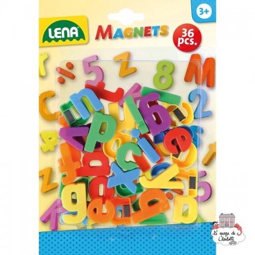 Magnets - Lowercase Letters (36 pcs) - LEN-65746 - Lena - Numbers and Letters - Le Nuage de Charlotte