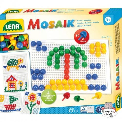 Mosaic Set 80 pieces - 15 mm - LEN-35604 - Lena - Creativity - Le Nuage de Charlotte