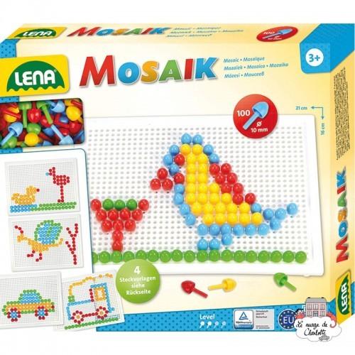 Mosaic Set 100 pieces - 10 mm - LEN-35603 - Lena - Creativity - Le Nuage de Charlotte
