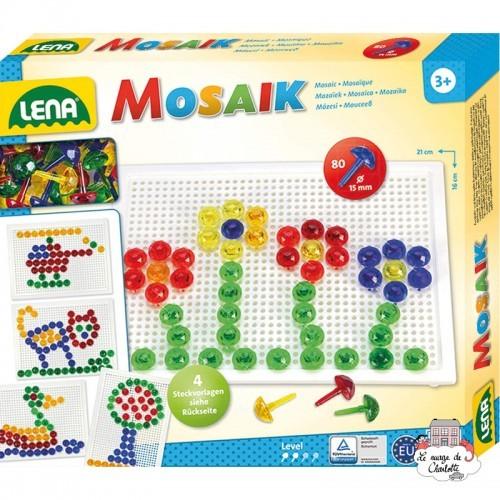 Mosaic Set Transparent 80 pieces - 15 mm - LEN-35602 - Lena - Creativity - Le Nuage de Charlotte