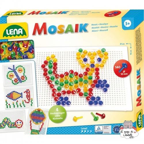 Mosaic Set Transparent 140 pieces - 10 mm - LEN-35601 - Lena - Creativity - Le Nuage de Charlotte