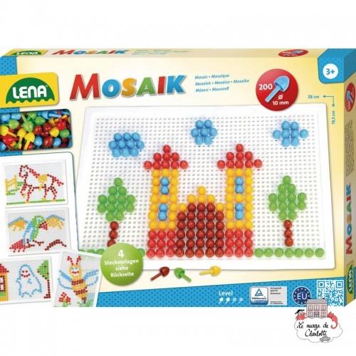 Mosaic Set 200 pieces - 10 mm - LEN-35608 - Lena - Creativity - Le Nuage de Charlotte