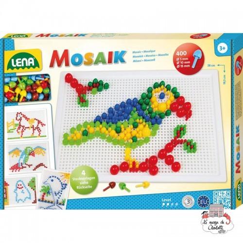 Mosaic Set 400 pieces - 5 / 10 / 15 mm - LEN-35614 - Lena - Creativity - Le Nuage de Charlotte