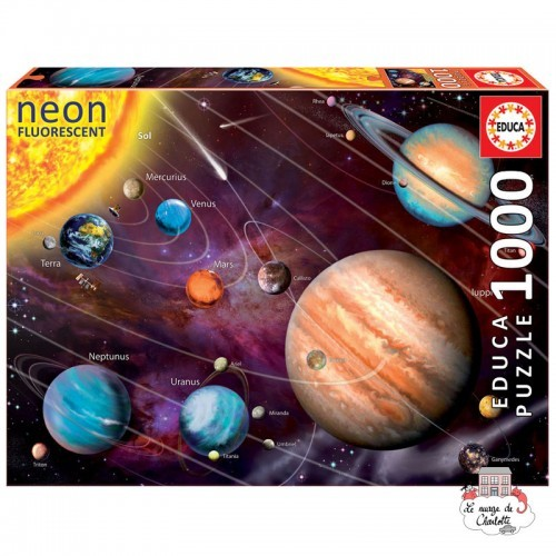 "Solar System ""Neon"" - EDU-14461 - Educa Borras - 1000 pieces - Le Nuage de Charlotte"