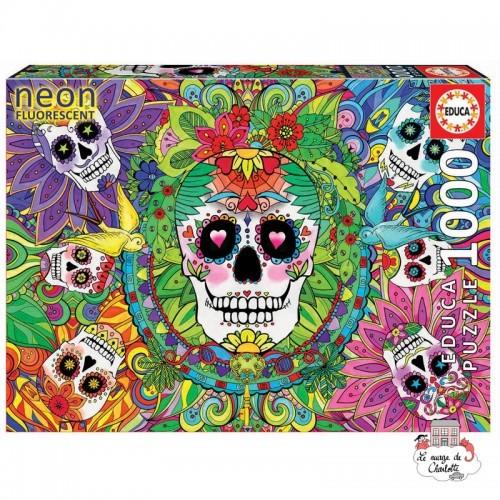 """Sugar Skulls """"Neon"""" - EDU-17975 - Educa Borras - 1000 pieces - Le Nuage de Charlotte"""