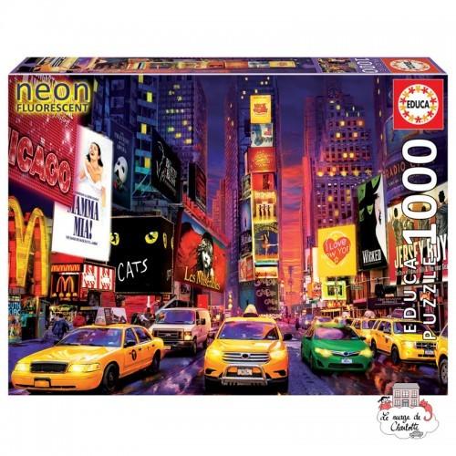 """Times Square, New York """"Néon"""" - EDU-18499 - Educa Borras - 1000 pieces - Le Nuage de Charlotte"""