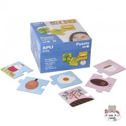 Puzzle The origins of food - APL-14360 - APLI - For littles - Le Nuage de Charlotte