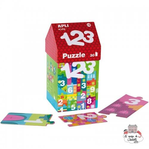 Puzzle House 1,2,3 - APL-14806 - APLI - For littles - Le Nuage de Charlotte