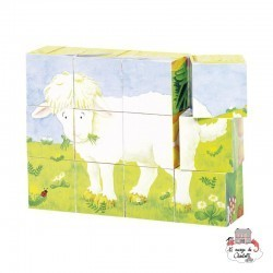 Cube puzzle baby animals - GOK-8657872 - Goki - Wooden Puzzles - Le Nuage de Charlotte