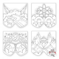 Make-a-Mask - Superheroes (20 masks) - MUD-9780735334472 - Mudpuppy - Creative Kits - Le Nuage de Charlotte