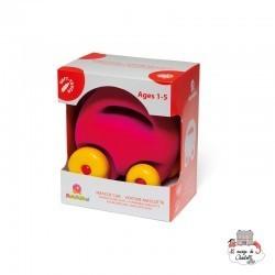Rubbabu Mascot Car pink - RUB-26189 - Rubbabu toys - Push along - Le Nuage de Charlotte