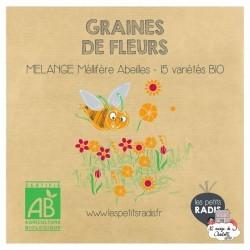 Mini kit de graines BIO de mélange de fleurs mellifères - LPR-G011 - Les Petits Radis - Nature et découvertes - Le Nuage de C...