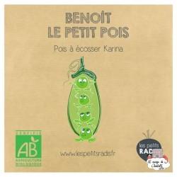 Mini kit de graines BIO de Benoît le petit pois - LPR-G161 - Les Petits Radis - Nature et découvertes - Le Nuage de Charlotte