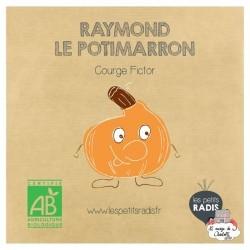 Mini kit de graines BIO de Raymond le potimarron - LPR-G151 - Les Petits Radis - Nature et découvertes - Le Nuage de Charlotte