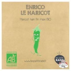 Mini kit de graines BIO d'Enrico le haricot - LPR-G091 - Les Petits Radis - Nature et découvertes - Le Nuage de Charlotte
