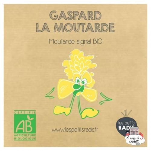 Mini kit de graines BIO de Gaspard la moutarde - LPR-G021 - Les Petits Radis - Nature et découvertes - Le Nuage de Charlotte