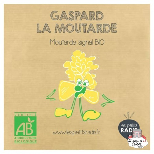 Mini kit of organic seeds of Gaspard mustard - LPR-G021 - Les Petits Radis - Nature and discoveries - Le Nuage de Charlotte