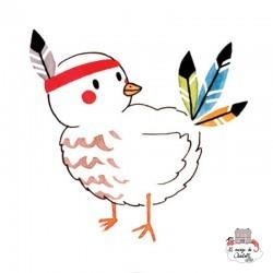 Sioou tatoo Lovely Indian bird (x5) - SIO-KC10 - Sioou - Temporary Tattoos - Le Nuage de Charlotte