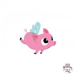 Sioou tatoo Lovely Flying pig (x5) - SIO-KC05 - Sioou - Temporary Tattoos - Le Nuage de Charlotte