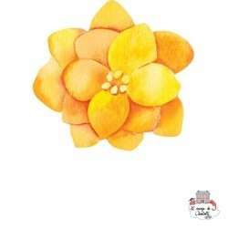 Sioou Lovely tatoo Yellow flower (x5) - SIO-BLC03 - Sioou - Temporary Tattoos - Le Nuage de Charlotte