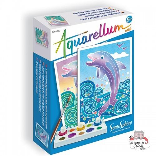 Aquarellum mini - Dolphins - STS-6000 - SentoSphère - Creative Kits - Le Nuage de Charlotte