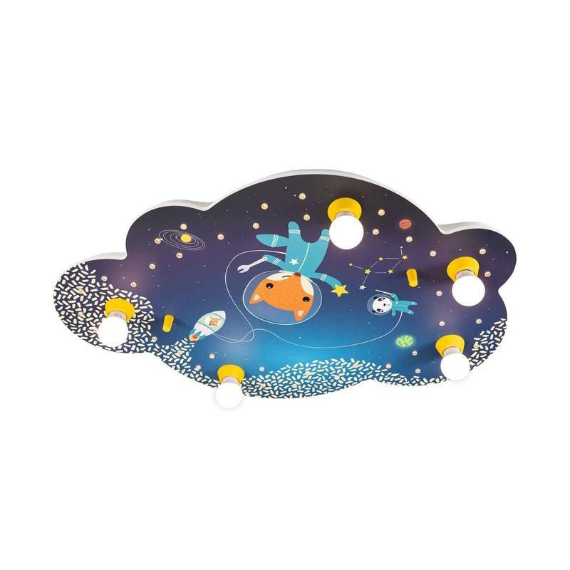 "Ceiling light picture cloud Little Astronauts ""Space Mission"" - ELO-138380 - Elobra - Wall and ceilings lights - Le Nuage de ..."
