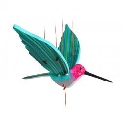Lil Wodden Mobile - Anna's Hummingbird Flying - FMM-tgmobcolibanna - Fair Moms - Mobile - Le Nuage de Charlotte