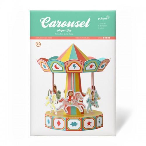 Jouet en papier carrousel - PUK-29201 - Pukaca - Maquettes en carton - Le Nuage de Charlotte