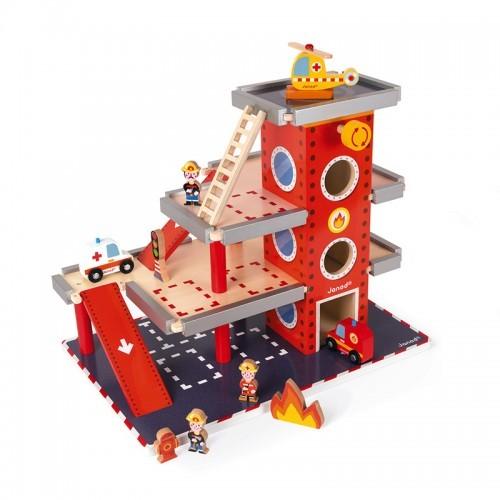 Fire station - JAN-J05717 - Janod - Garages and accessories - Le Nuage de Charlotte