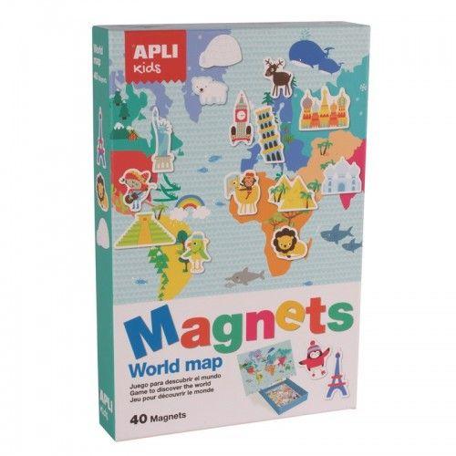 Magnets - Carte du Monde - APL016494 - APLI - Education et Magnets - Le Nuage de Charlotte