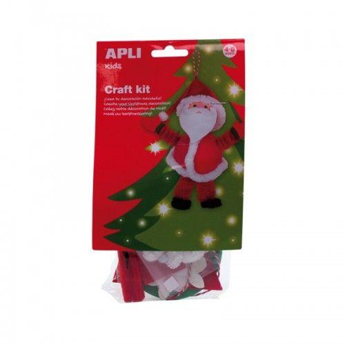 Christmas Craft Kit - Père Noël - APL013936 - APLI - Kits Créatifs - Le Nuage de Charlotte