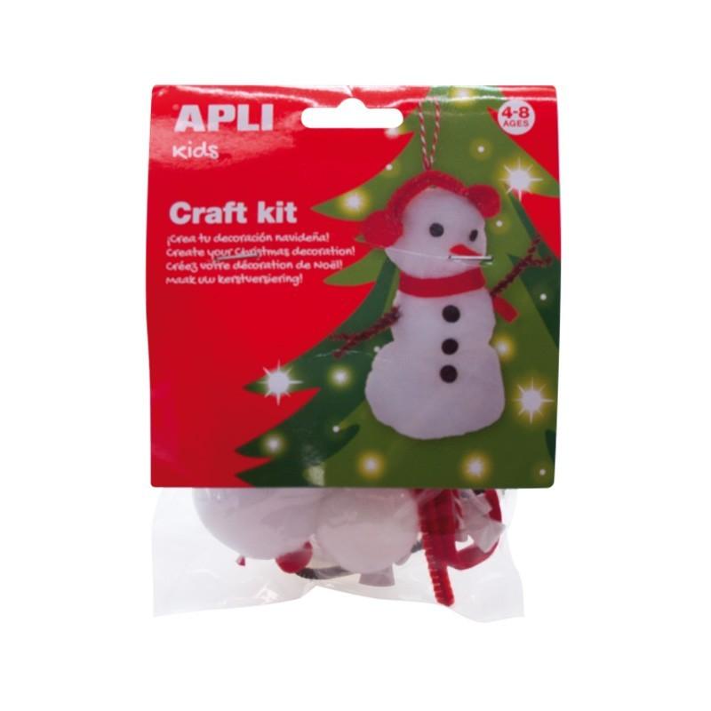 Christmas Craft Kit - Snowman - APL013938 - APLI - Creative Kits - Le Nuage de Charlotte