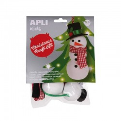 Christmas Craft Kit - Snowman - APL-14347S - APLI - Creative Kits - Le Nuage de Charlotte