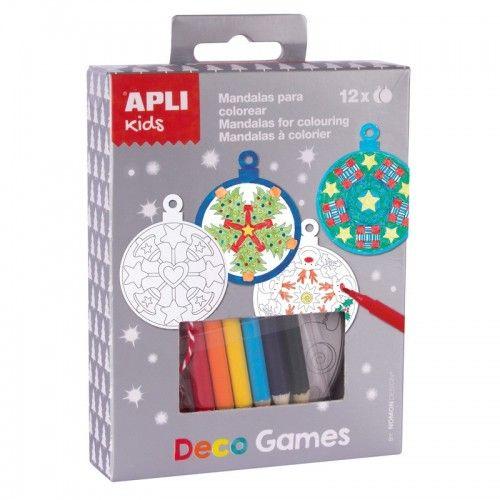 Deco Games - Mandalas à Colorier - APL014975 - APLI - Kits Créatifs - Le Nuage de Charlotte
