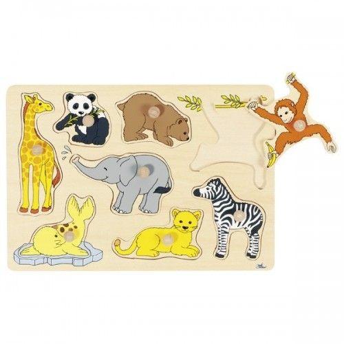Bébés animaux, puzzle à encastrements - GOK-8657906 - Goki - Puzzle en bois - Le Nuage de Charlotte