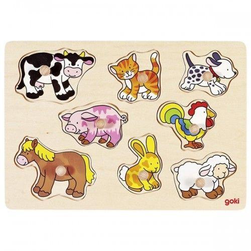 Ferme VII, puzzle à encastrements - GOK-8657873 - Goki - Puzzle en bois - Le Nuage de Charlotte