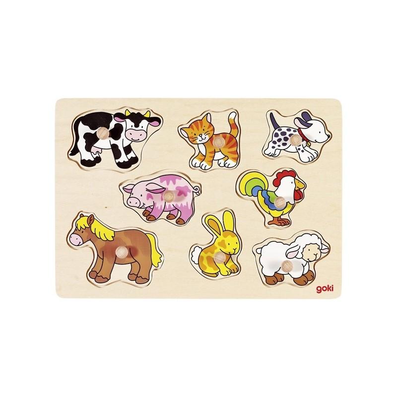Farm VII, lift-out puzzle - GOK-8657873 - goki - Wooden Puzzles - Le Nuage de Charlotte