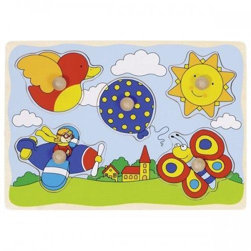 Balloon, sun,... lift-out puzzle - GOK-8657859 - Goki - Wooden Puzzles - Le Nuage de Charlotte