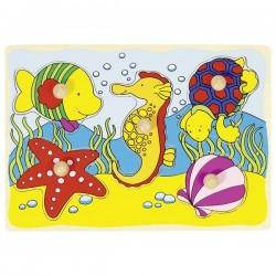 Seahorse, shell,... lift-out puzzle - GOK-8657857 - Goki - Wooden Puzzles - Le Nuage de Charlotte