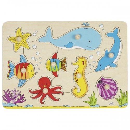 Le monde sous-marin, puzzle - GOK-8657953 - goki - Puzzle en bois - Le Nuage de Charlotte